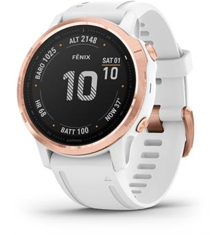Garmin Fenix 6S Pro rose gold w/white band